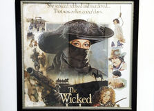 The wicked poster. Wicked witch character with frame Stock Photo