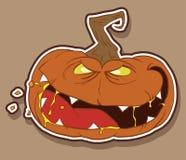 Wicked pumpkin for Halloween. Vector illustration Stock Photo