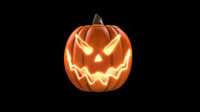 Wicked pumpkin for Halloween. HD stock video