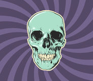 Wicked Skull. A hand drawn vector skull for those projects that just need that creepy something. Great for Halloween too Royalty Free Stock Image