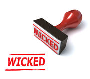 Wicked stamp 3d illustration. On the white background Stock Image