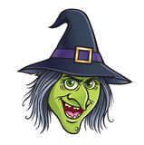 Wicked Witch Face Stock Image