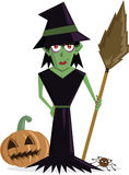 Wicked Witch halloween character Royalty Free Stock Photography