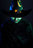 Wicked witch at Halloween royalty free stock photos