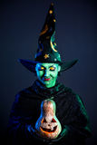 Wicked witch with pumpkin Royalty Free Stock Photos