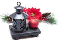 Wickeln Sie Leuchte mit Weihnachtsbaumkugel Lizenzfreies Stockbild