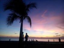 Wickeln Sie schönen Sonnenuntergang des Boulevards ab Lizenzfreie Stockbilder