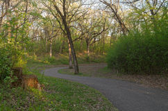 Wickelnde Spur in Battle-Creek Stockbilder