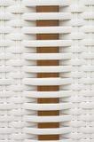 wicker белизны корзины стоковые фото