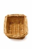 wicker изолированный корзиной Стоковые Фотографии RF