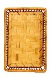 wicker корзины деревянный Стоковая Фотография