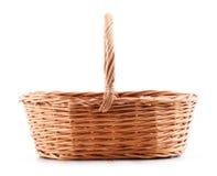 wicker корзины пустой изолированный белый Стоковое Фото