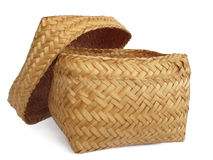 wicker корзины пустой Стоковое Фото