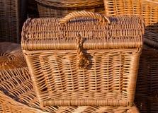 wicker корзины handmade деревянный Стоковые Фото