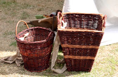 wicker корзины handmade Стоковые Изображения RF