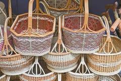 wicker корзины handmade Стоковые Фото