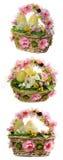 wicker пасхальныхя корзины стоковое фото rf