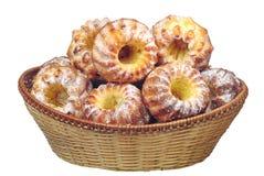 wicker пирожнй корзины Стоковая Фотография RF