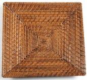wicker плиты квадратный Стоковое Фото