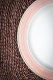 wicker плиты предпосылки пустой Стоковые Изображения