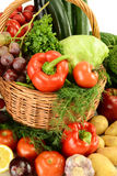 wicker сырцовых овощей корзины Стоковое Изображение