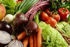 wicker сырцовых овощей корзины стоковые фотографии rf