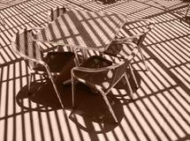 wicker таблицы стула Стоковые Изображения