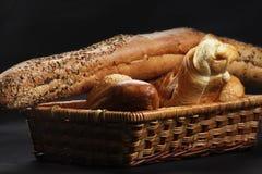 wicker хлеба корзины Стоковое Изображение