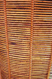 Wicker. Detailed texture of brown wicker Royalty Free Stock Photography