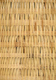 Wicker against Black. A close-up view of an a flat wicker weave suitable as a background texture Royalty Free Stock Photography