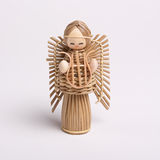 Wicker Angel Royalty Free Stock Images