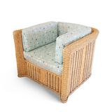 Wicker arm-chair Royalty Free Stock Photography