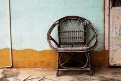 Wicker armchair Royalty Free Stock Images