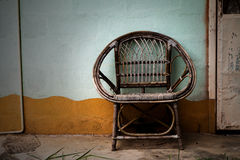 Wicker armchair Royalty Free Stock Photos