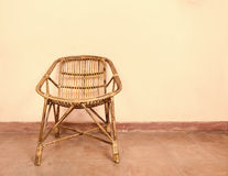 Wicker armchair Stock Images