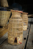 Wicker. Art and craft is one Invented by man to build tools on a daily basis Stock Image
