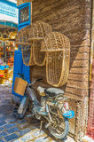 The wicker baby carriage Royalty Free Stock Images