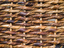 Wicker Background. Woven brown wicker basket pattern background texture Royalty Free Stock Photos