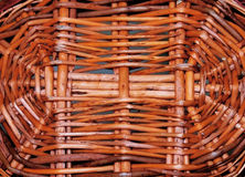 Wicker background. Woven wicker in circular pattern for background Royalty Free Stock Images