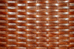 Wicker Background. A varnished woven wicker background stock photo
