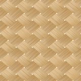 Woven bamboo wood seamless texture stock illustration