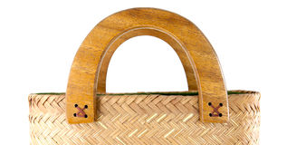 Wicker bag isolated Royalty Free Stock Photo