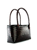 Wicker bag isolated Royalty Free Stock Images