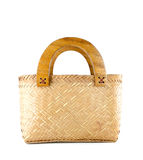 Wicker bag isolated Stock Images