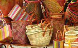 Wicker bags Royalty Free Stock Photography