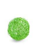 Wicker ball. On white background Stock Photos
