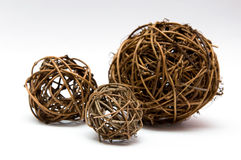 Wicker ball. Three Wicker balls isolated on a white background Stock Images