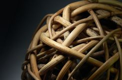 Wicker ball Stock Photography