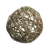 Wicker ball of willow branches Stock Image