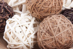 Wicker balls Stock Image
